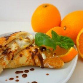 Naleśniki z serkiem pomarańczowym
